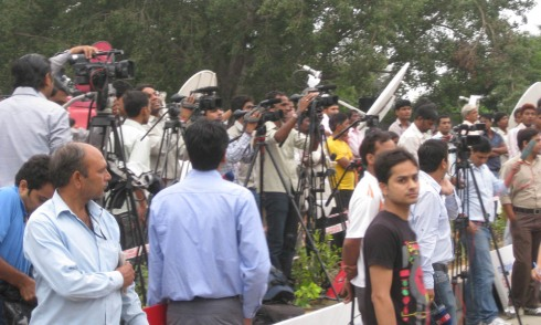 More media at the march