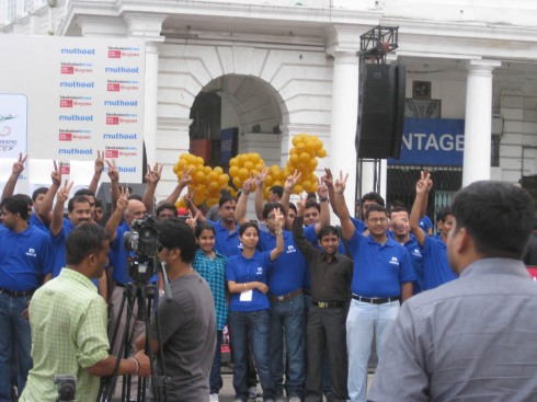 Sponsors at the rally