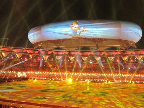 Aerostat at the Delhi 2010 Closing Ceremony