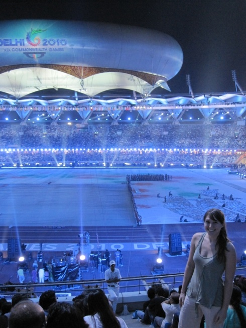 Christina at the Delhi 2010 Closing Ceremony
