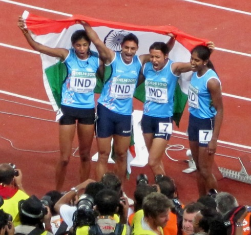 Indian 4x400m gold medallists