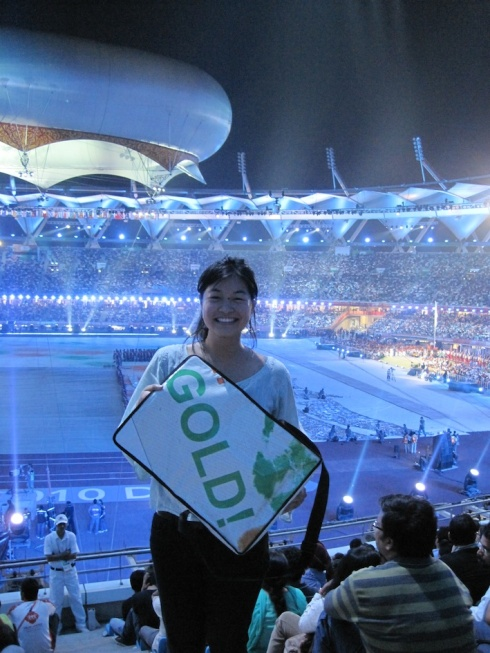 Jenna at the Delhi 2010 Closing Ceremony