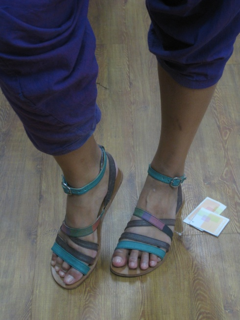 Handmade recycled plastic sandals