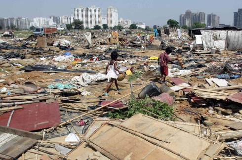 Delhi slum kids