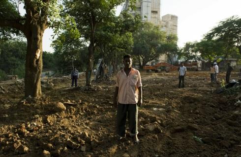 Delhi slum clearing