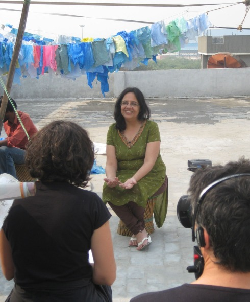 Anita Ahuja interviewed for french documentary series, Shamengo