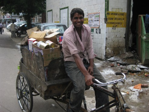 Ragpicker collecting recyclables