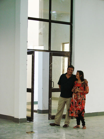 Anita and Shalabh Ahuja at the new Conserve India factory