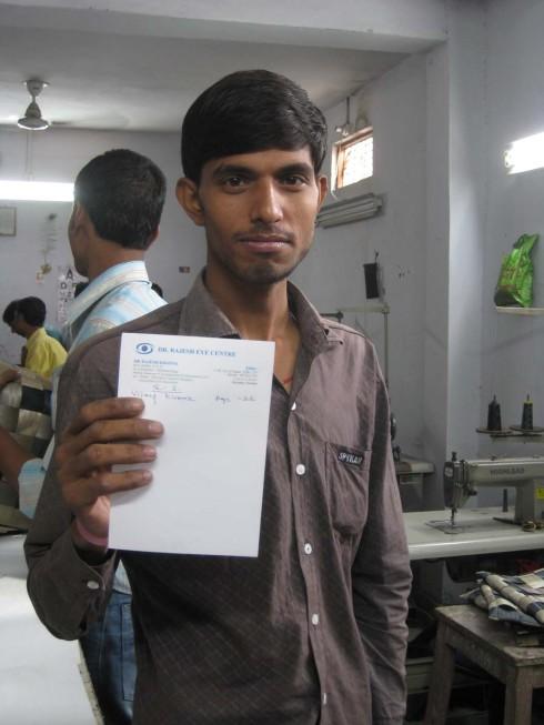 Conserve India health clinic eye check  prescription