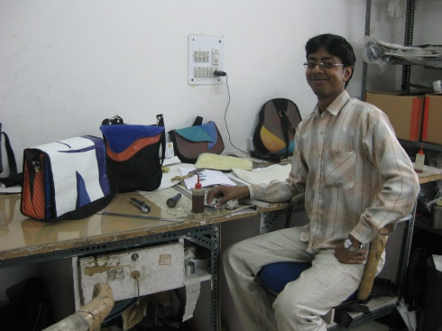 Sajit and the Commonwealth Games bag samples